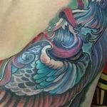 Tattoos - tri color heron  - 99632